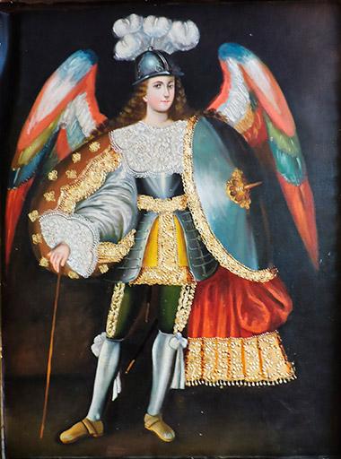 pinturas de arcangeles choque alvarez