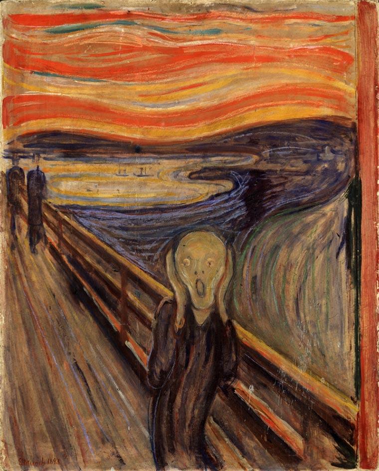 pinturas famosas el grito