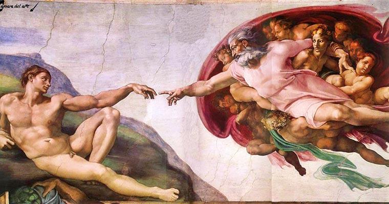 pinturas famosas la creacion de adan