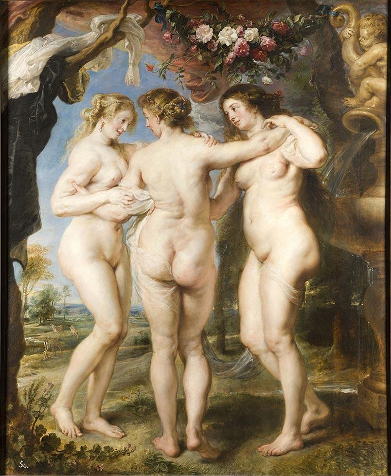 pinturas famosas las tres gracias