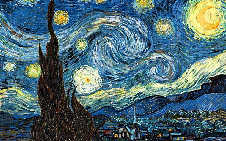 pinturas famosas noche estrellada